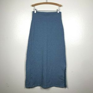 Patagonia Striped Serenity Maxi Skirt in Blue